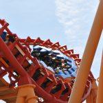 Orange roller coaster.