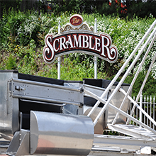 A sign for the Scrambler.