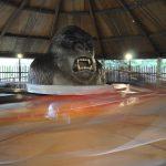 A large gorilla head.