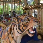 A tiger carousel seat.