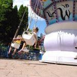 Spinning swing ride.