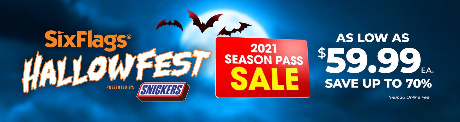 2021 Season Pass Sale