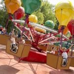 A spinning balloon ride.
