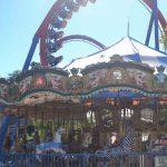 An ornate spinning carousel.