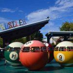 Spinning pool balls.