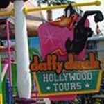 Sign for Daffy Duck Hollywood Tours.
