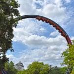 El Diablo loop with car on track and landscape