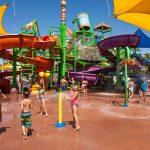 Kids playing in Soak'em Playground