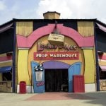 Entrance to Looney Tunes Prop Warehouse.