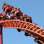 An orange roller coaster.