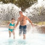 Dad and daughter at Hurricane Harbor Concord
