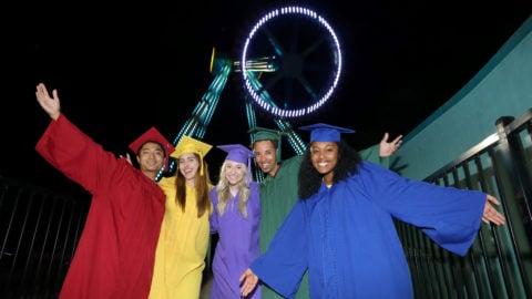 Students at grad/senior night