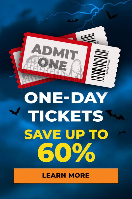 Save up to 60% on one day tickets