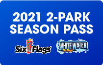2021 2 Park Season Pass Six Flags and White Water
