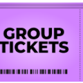 image of a purple group ticket