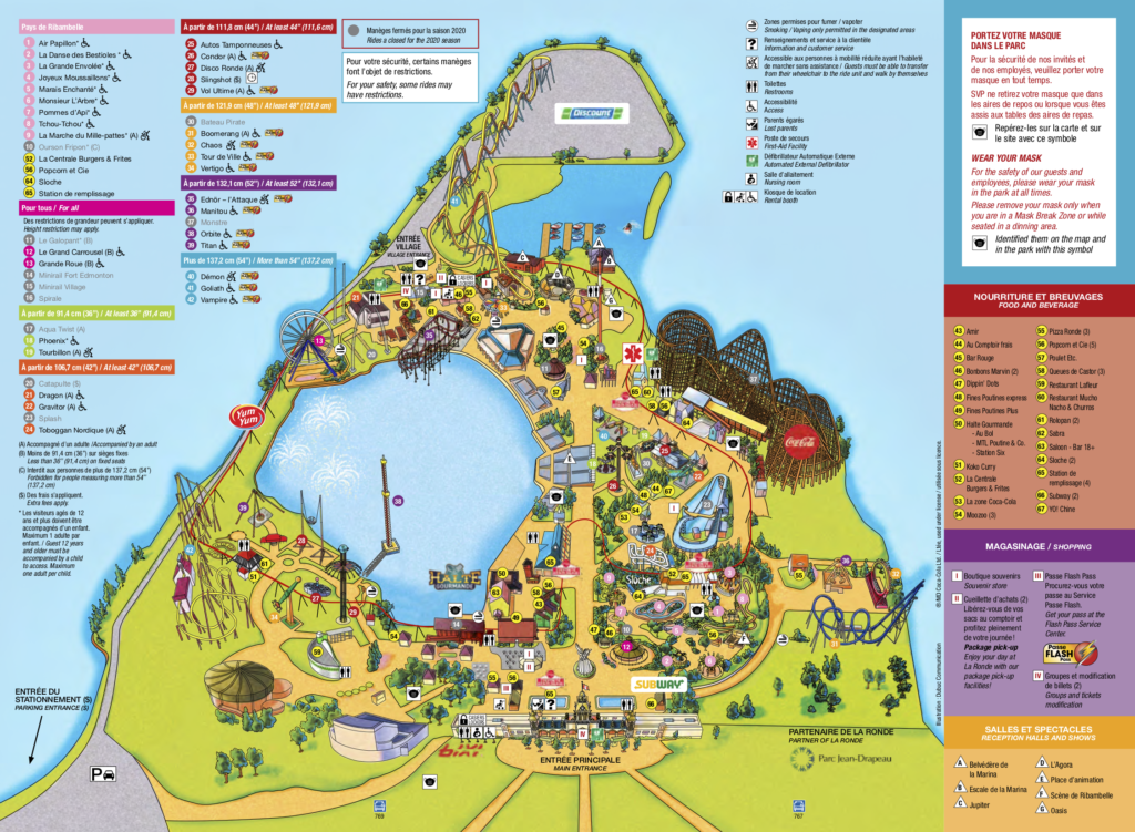 La Ronde Park Map