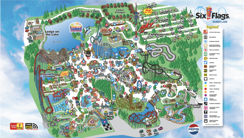 Darien Lake Park Map