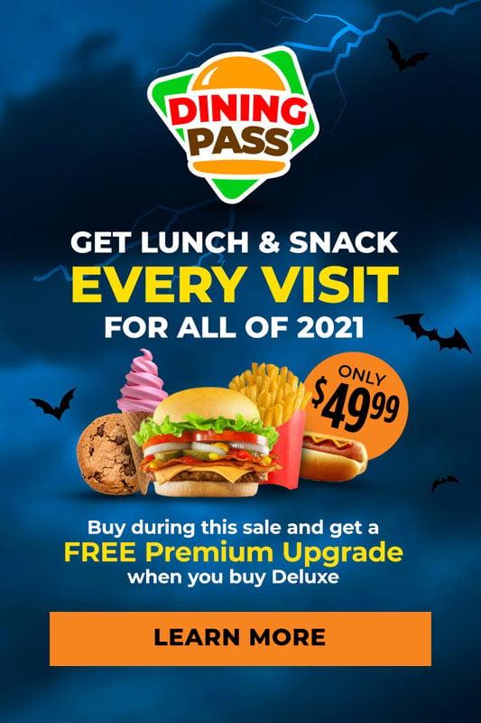 Halloween promotion dining pass