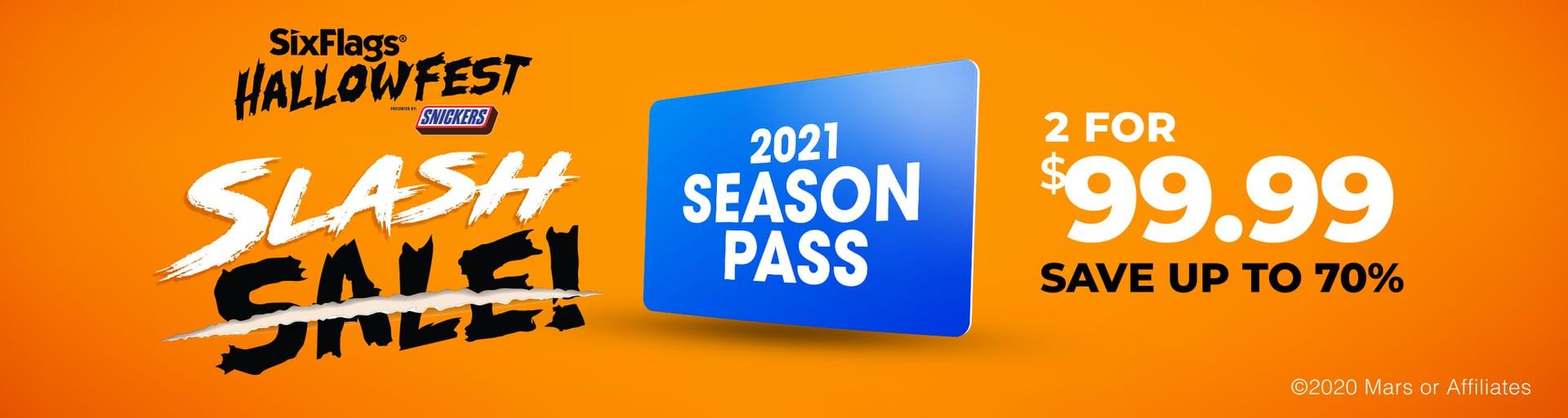2021 Season Pass Slash Sale