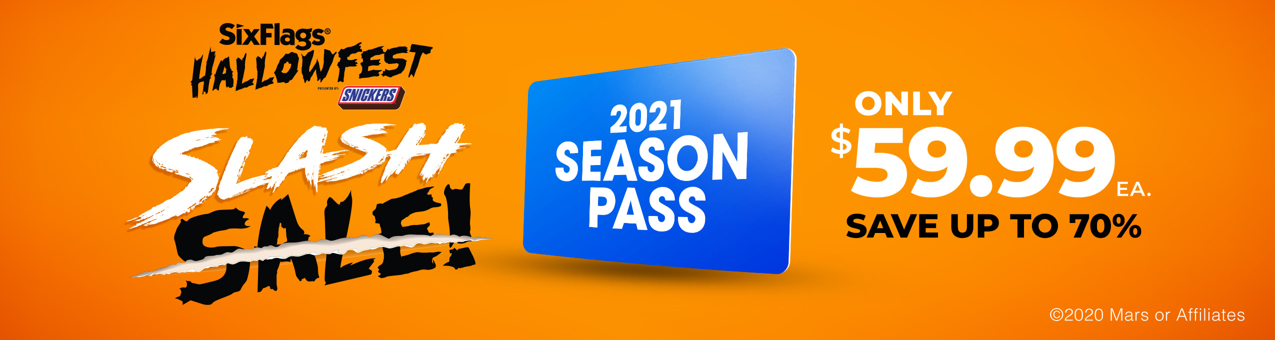 2021 Season Pass Slash Sale