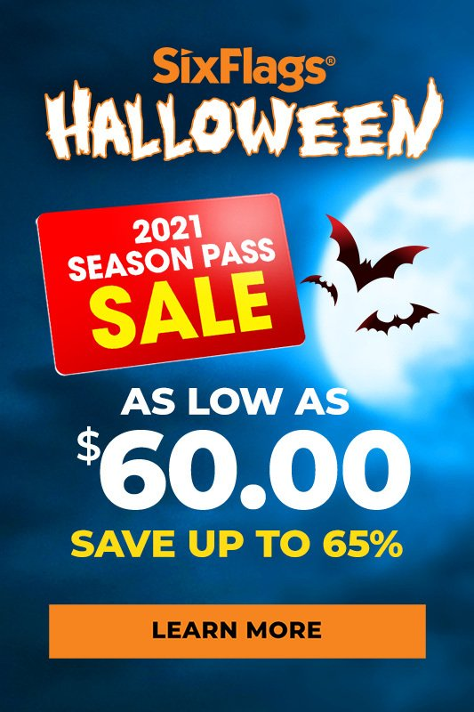Halloween 2021 season pass sale as low as $60