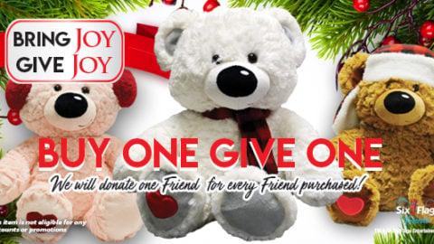 Buy a bear, donate a bear at Six Flags Over Georgia