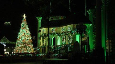 Christmas Tree Lighting at Six Flags Over Georgia