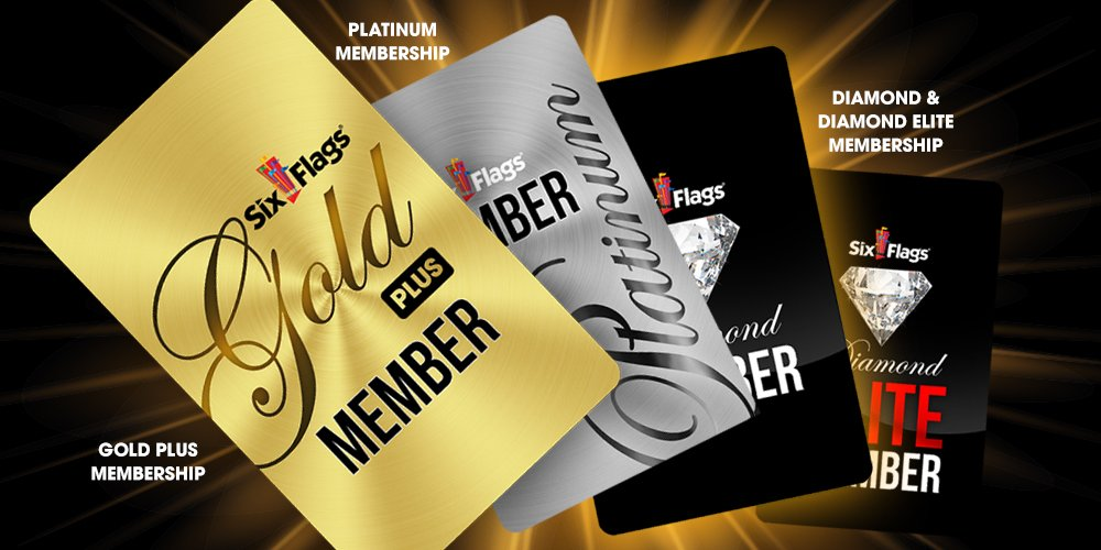 4 levels of membership cards fanned out