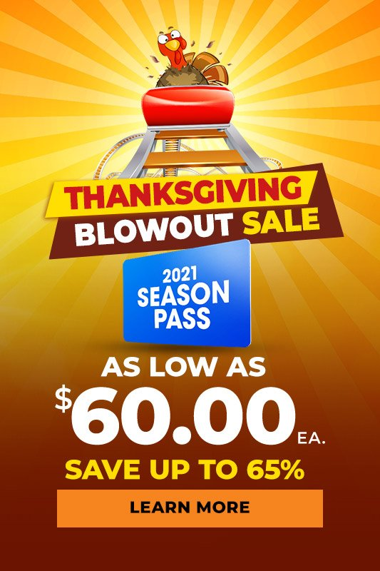 Thanksgiving Blowout Sale season passes as low as $60