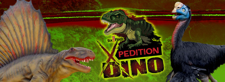 Xpedition Dino logo with dinosaurs