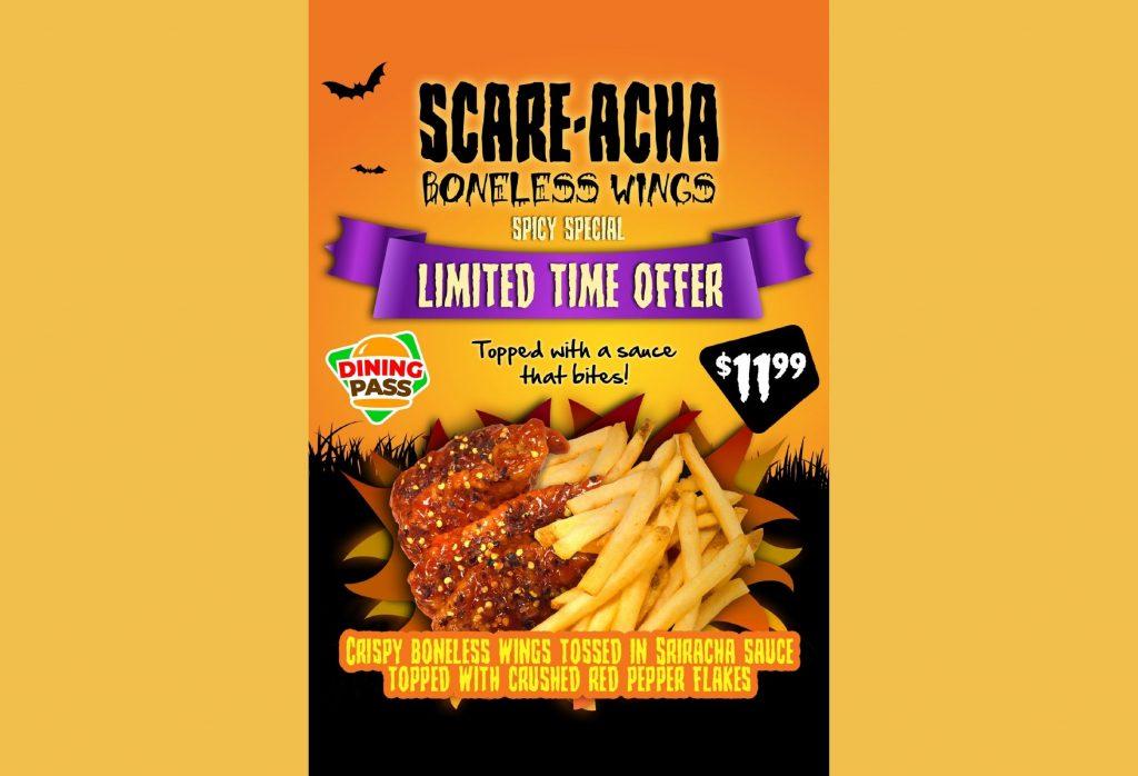 Scare-Acha Boneless Wings