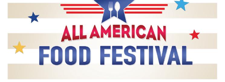 all american food festival logo