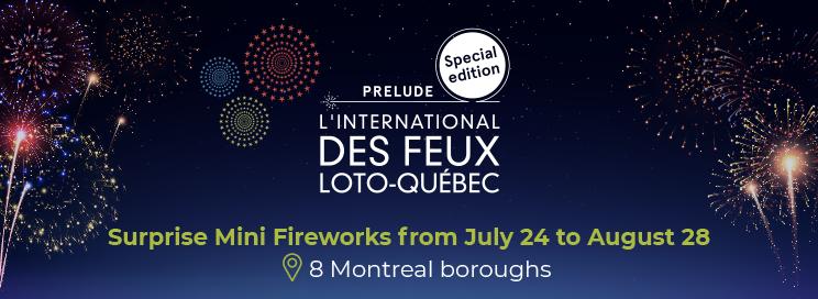 Fireworks display for La Ronde celebrtion.