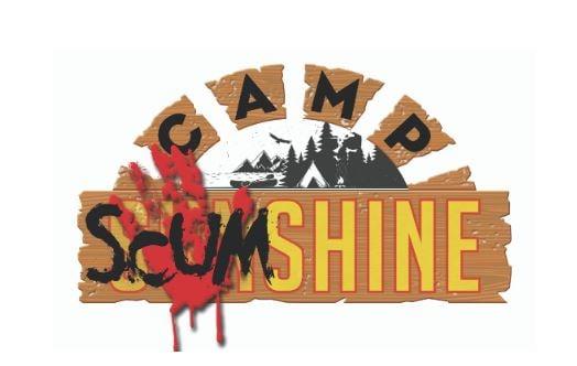 A logo for camp scumshine