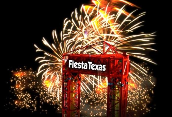 Fireworks at Six Flags Fiesta Texas