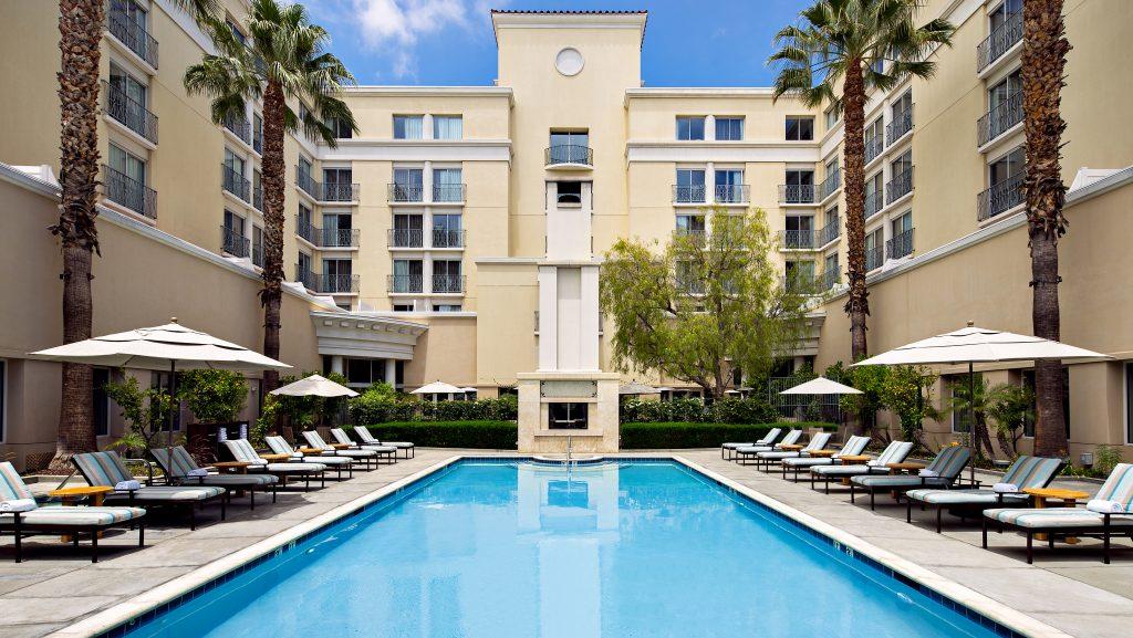 pool view of hyatt regency hotel