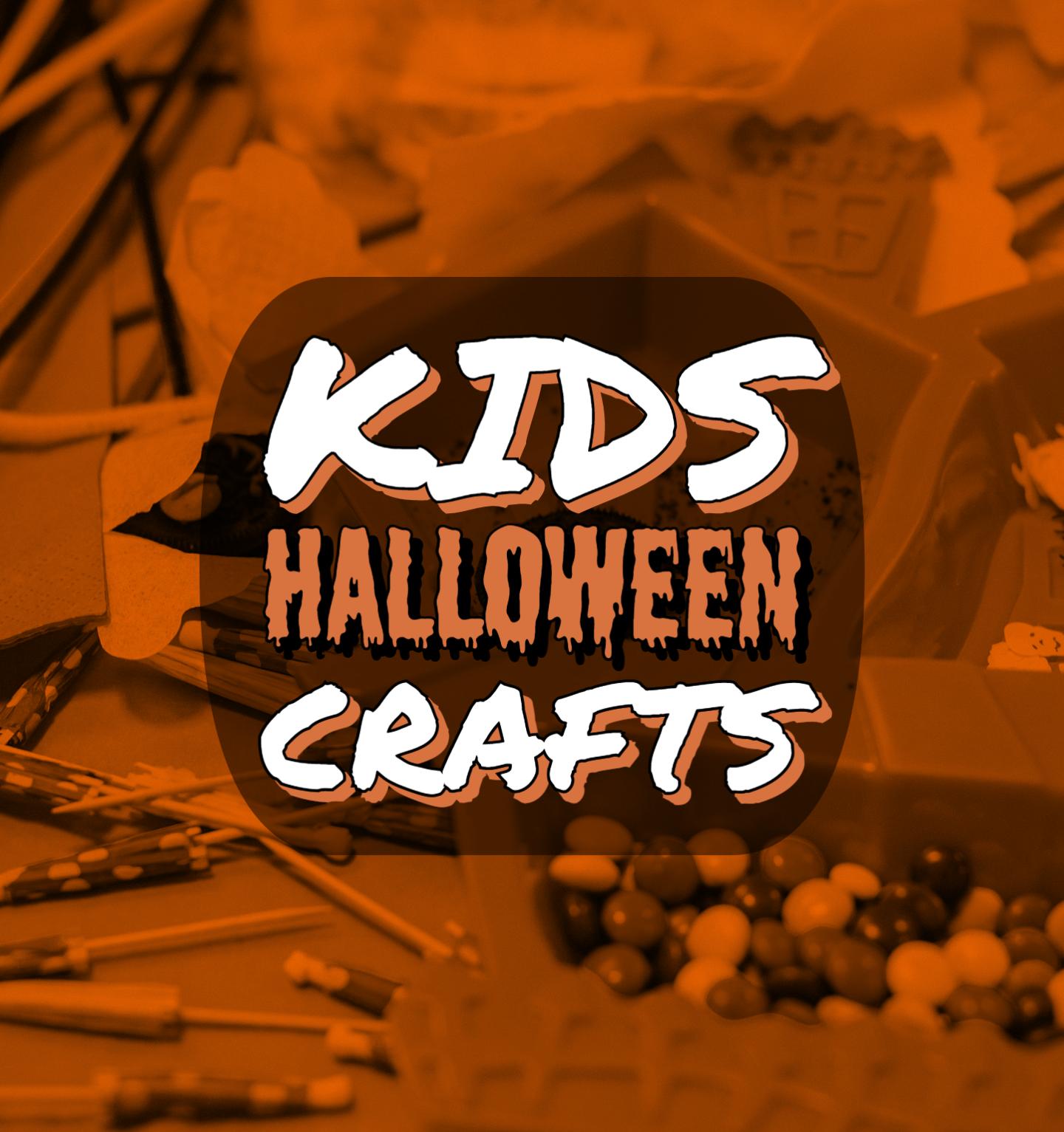Kids Halloween Crafts Text With Supplies Photos