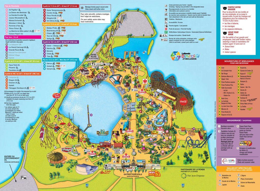 Park map of LaRonde.