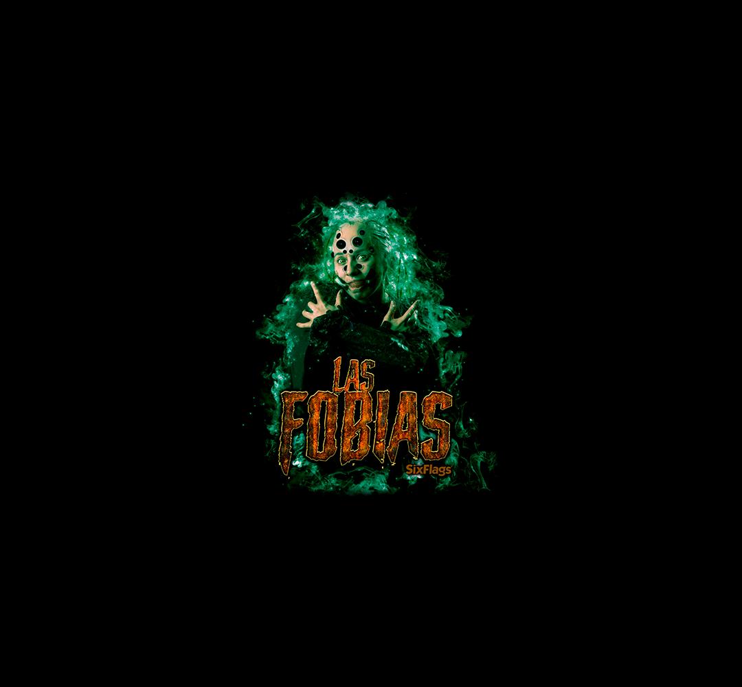 Las Fobias logo con personaje