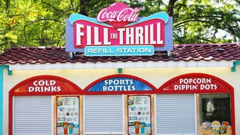 Spain Coca Cola FIll the Thrill Station at Six Flags Over Texas