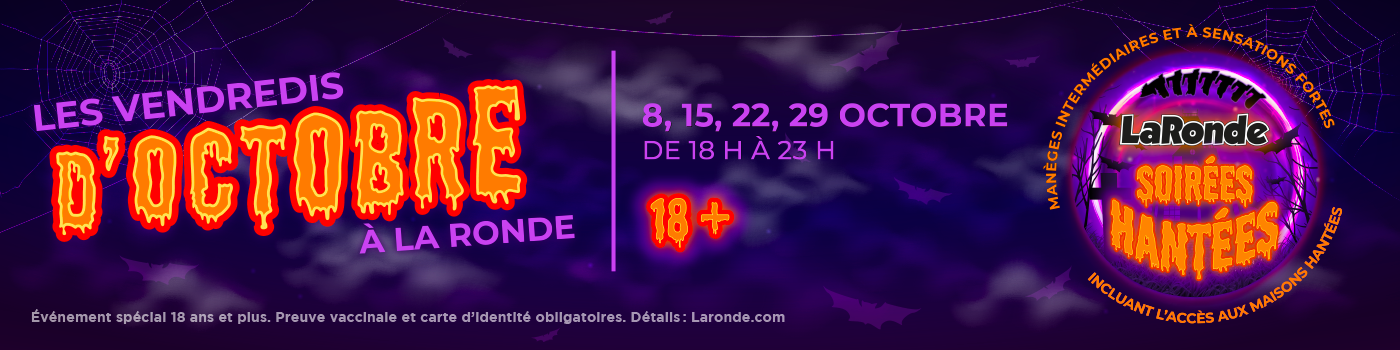 La Ronde's Haunted Nights Banner