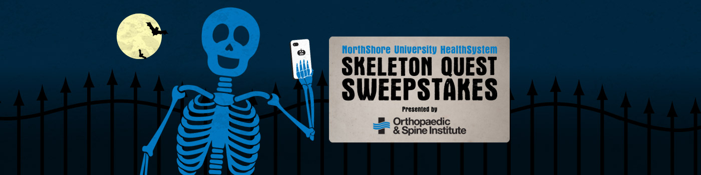 NorthShore Skeleton Quest Sweepstakes at Six Flags Great America logo