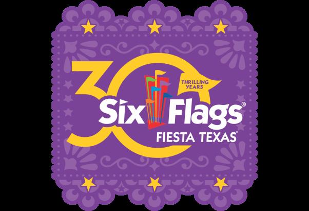Six Flags Fiesta Texas 30th Anniversary Logo