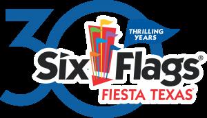 Six Flags Fiesta Texas classic 30th anniversary logo