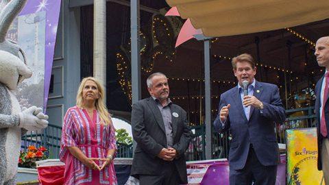 Six Flags Over Texas Honors Arlington Mayor Jeff Williams