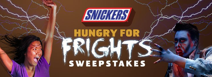 Snickers Hungry for Frights Sweepstakes banner