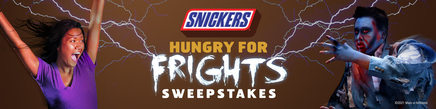 Snickers Hungry for Frights Sweepstakes logo