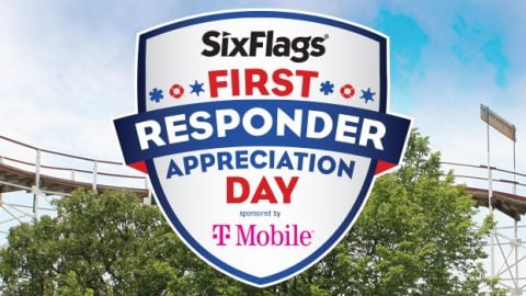 Six Flags First Responder Appreciation Day logo at Great America