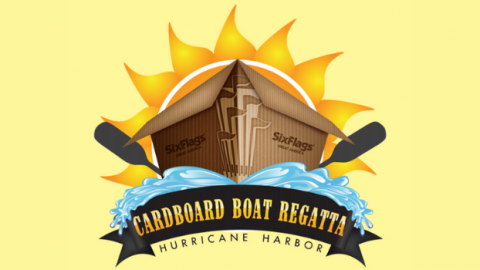 Boat Regatta Logo with waves