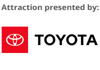 Red Toyota Logo, the sponsor for Drench! at Six Flags